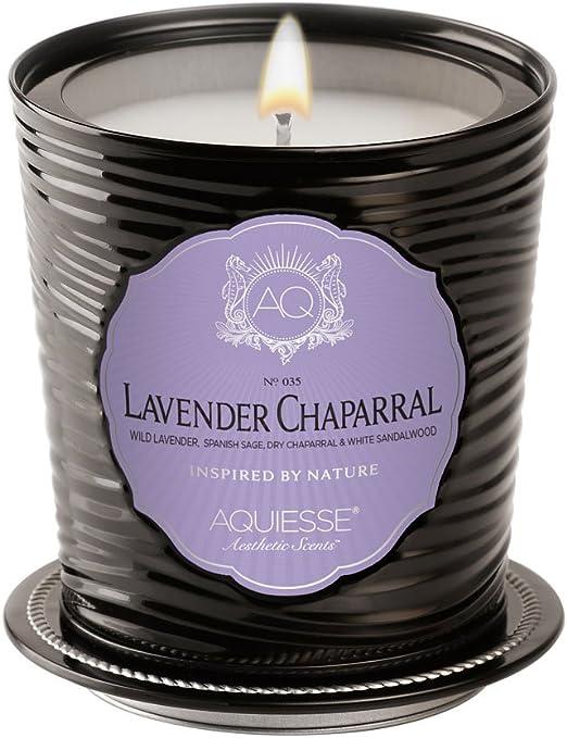 LAVENDER CHAPARRAL Tin 11oz Aquiesse Portfolio  Scented Soy Candle