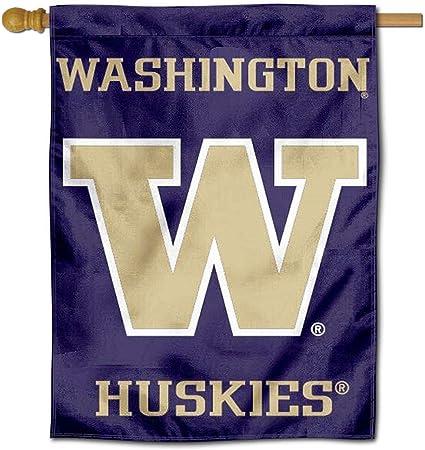 Washington Huskies Soccer Garden Flag and Yard Banner