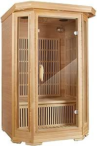 MRNIU Steam Sauna Indoor Sauna 2-Person Saunas Far Infrared Sauna Heater Portable saunas for Home with 8 Carbon Heaters