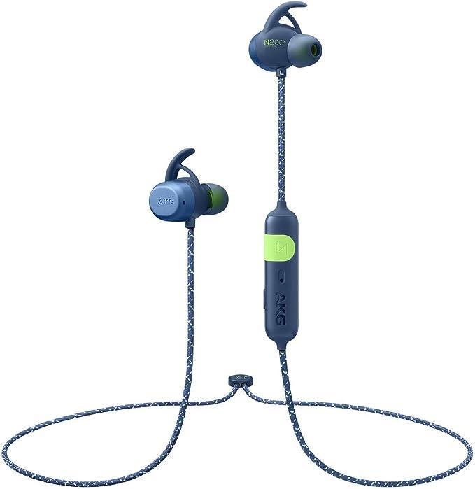【AKG公式ストア】AKG ワイヤレス スポーツヘッドホン N200A WIRELESS Bluetooth 防水 IPX7 AAC SBC 対応 オリジナルステッカー付き AKGN200ABT (ブルー)
