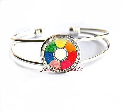 Amazon Com Charming Fashion Bracelet Fashion Color Wheel Bracelet