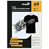 Koala Inkjet Iron On T Shirt Transfer Paper for Dark Fabrics x 25 Sheets, A4