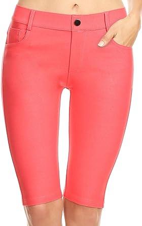 Ladies Women Full Length Stretch Jeggings Legging Blue Black 65/%Cotton 25/% Nylon