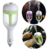Yeworth Car Aroma Diffuser Humidifier, Mini Portable Travel Cool Mist Car Air Humidifier and Aromatherapy Essential Oil Diffuser