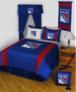 Amazon.com: NHL New York Rangers 5pc Bed in a Bag Queen Bedding ...