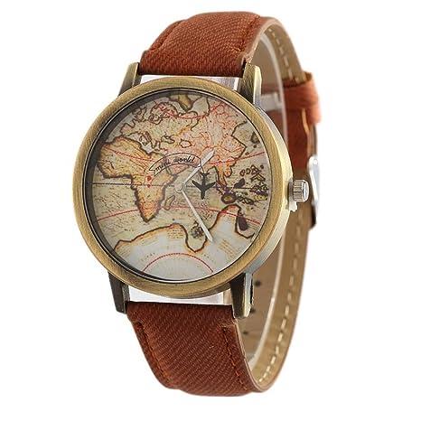 Reloj mesa avión segunda mano placa giratoria del dril de algodón de las mujeres , 5