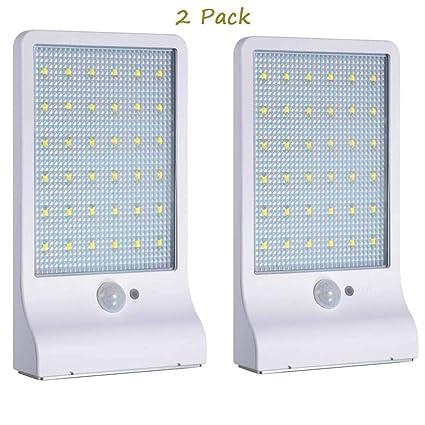 MIMI KING Luces Solares Al Aire Libre, 36 LED Sensor De Movimiento Luces Solares con