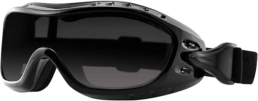 Bobster Night Hawk Fit On Sunglasses,Black Frame//Smoked Lens,one size