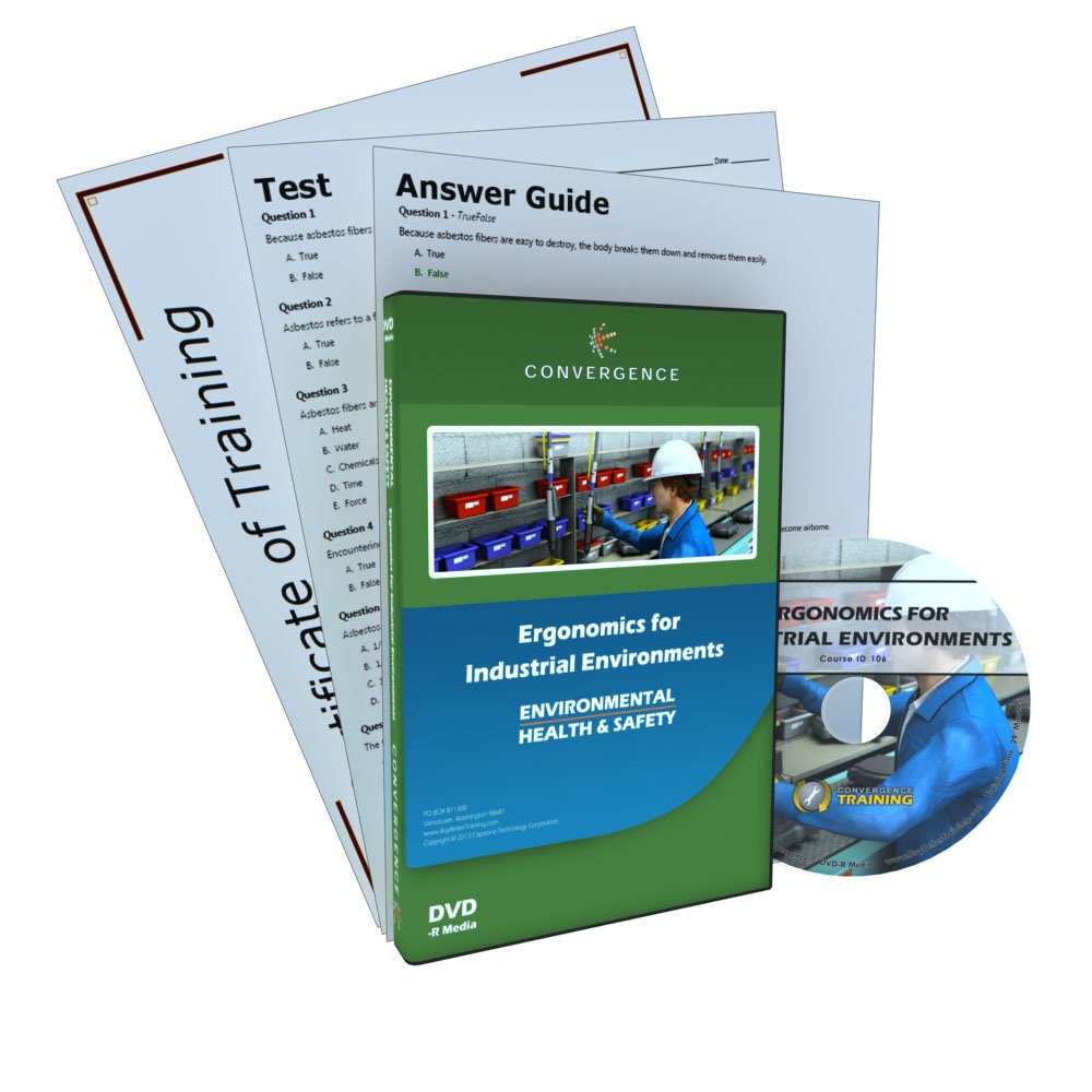 Convergence C-418 Ergonomics for Industrial Environments Training Program DVD, 16 minutes Time