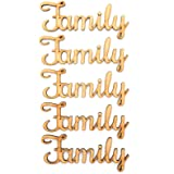 5 sets of our family tree words wooden cut out mdf script blank