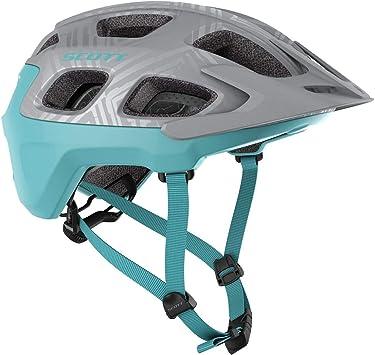 Scott Vivo 2020 - Casco para bicicleta de montaña, color plateado y turquesa: Amazon.es: Deportes y aire libre