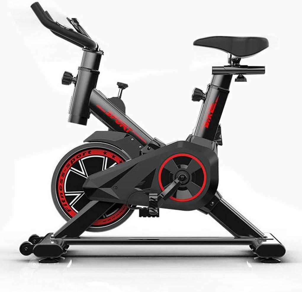 LYDZ Fitness Spinning Bike Aerobic Home Coach Bicicleta estática, Bicicleta rápida con Sistema de transmisión por Correa de bajo Ruido, Equipo de Ejercicio físico