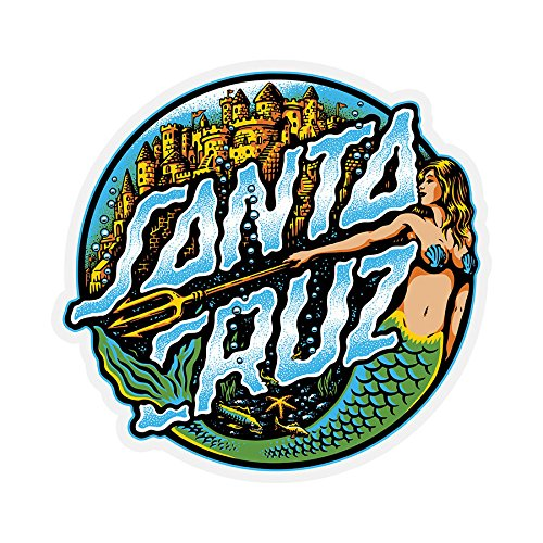 Santa Cruz Skateboard Sticker Mermaid Dot 3.25