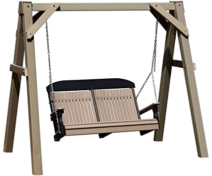 Amazon.com : Vinyl CLAY A-Frame Porch Swing Stand : Polywood Swing ...
