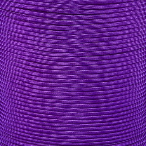 SGT KNOTS Paracord 550 Type III 7 Strand - 100% Nylon Core and Shell 550 lb Tensile Strength Utility Parachute Cord for Crafting, Tie-Downs, Camping, Handle Wraps (4mm - 1000 ft - Acid Purple) by SGT KNOTS (Image #1)