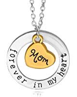 Forever in My Heart Necklaces Pendant,Love My Mom Pendants Necklace Best Gifts for Mothers Day