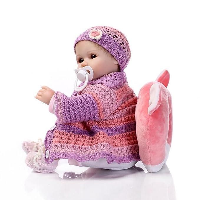 Amazon.com: Muñeca realista bebé reborn suave paño de ...
