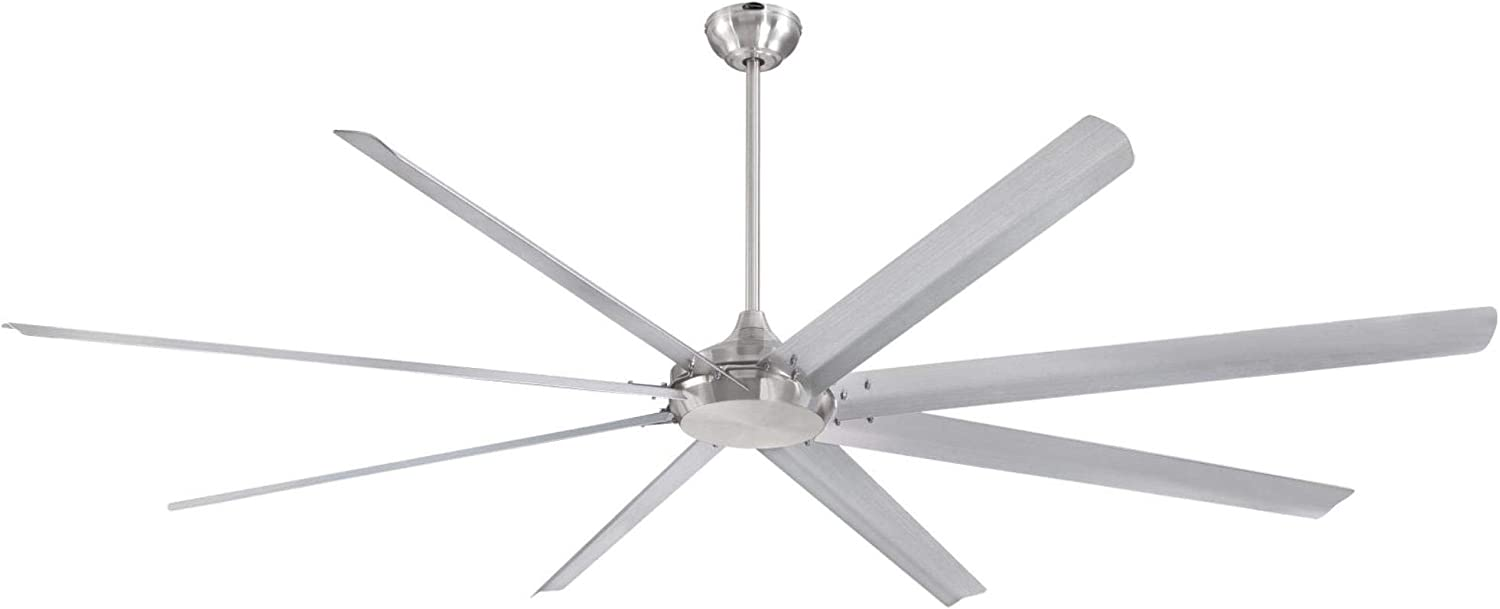Westinghouse Lighting 7224900 Widespan Industrial Ceiling Fan with Remote, 100 Inch, Brushed Nickel