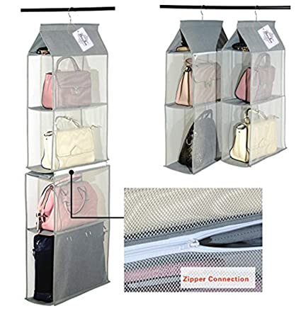 Amazon Com Detachable 6 Compartment Organizer Pouch Hanging Handbag