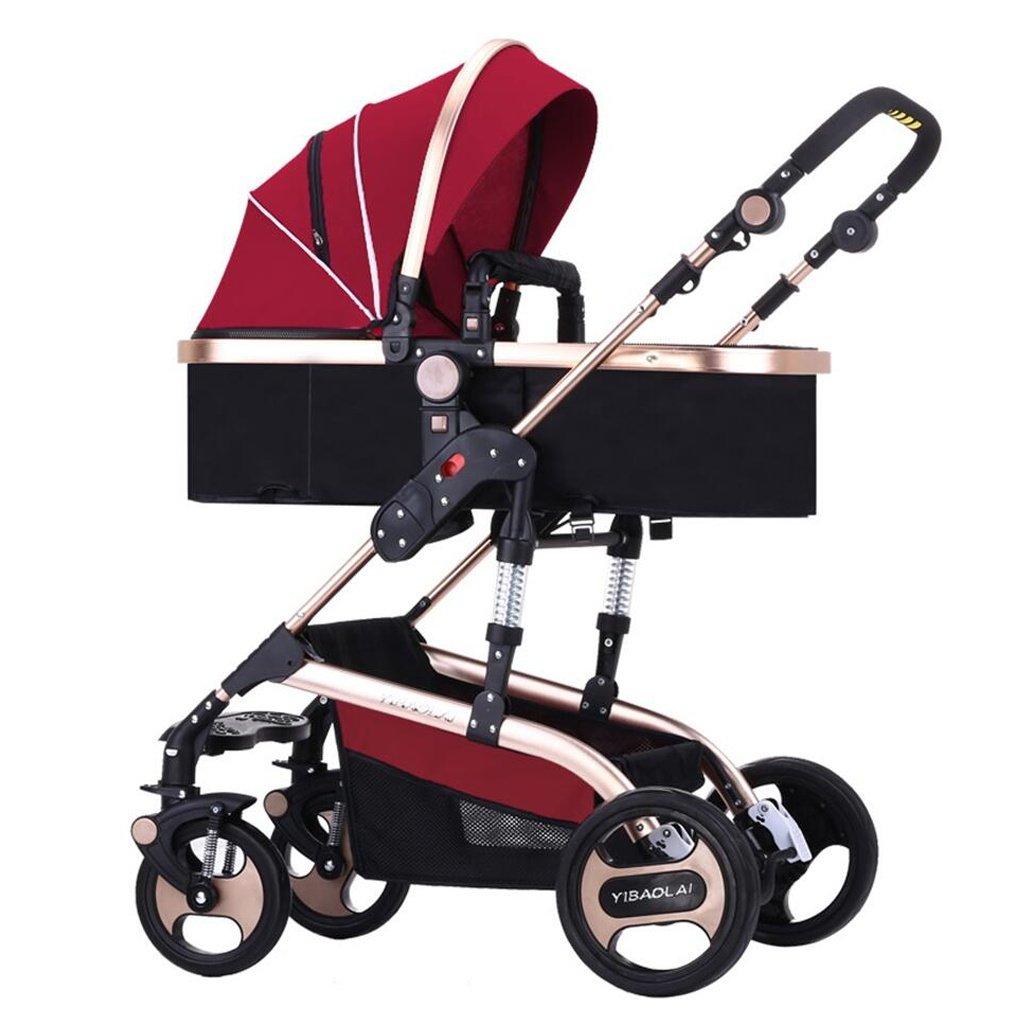 BBZZZ passeggiatore per i Bambini può sedersi può Anche sdraiarsi in Discesa Inverno e Estate Uso Doppio Evitare Il Bambino di Scossa Baby Baby Appena Nato