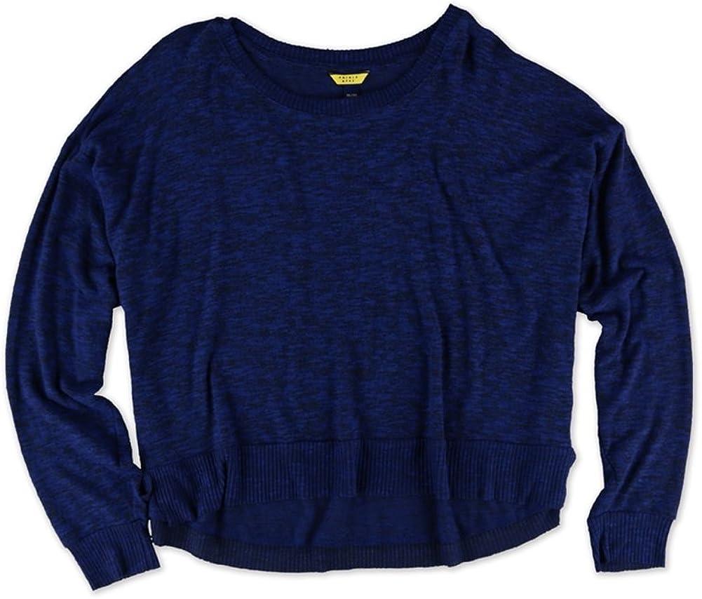 Blue Aeropostale Womens Heather Hi-Lo Pajama Sweater X-Large
