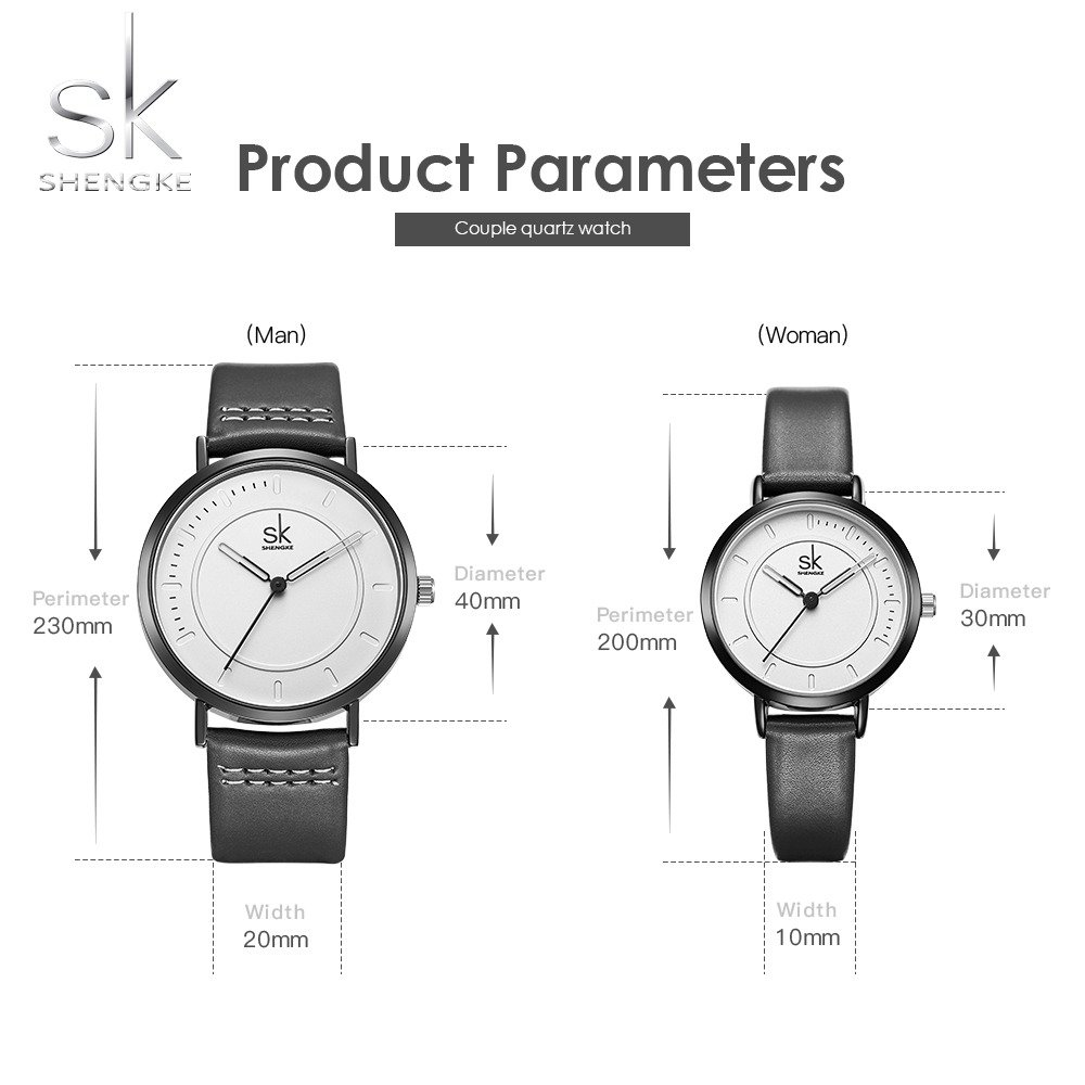 SINOBI Dress Wrist Watch Set Casual Classic Stainless Steel Quartz Wrist Business Analog Watch for Couple by SINOBI (Image #2)
