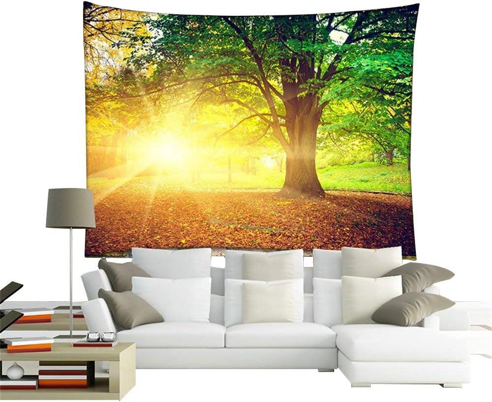 Arazzo decorativo da appendere al muro 59*51 Qees GT07 Forest 1 in tessuto di poliestere con foresta verde; 149,9/x 129,5/cm;