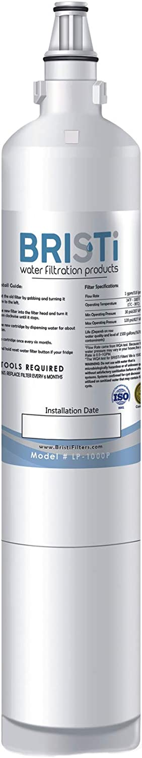 Bristi LG 5231JA2006A, LG 5231JA2006B, LG LT600P, Refrigerator Water Filter Replacement And Fits Kenmore 46-9990, 9990, 469990 (1 Pack)