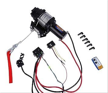 Elektrische Seilwinde Qiilu Elektrische Winden 4000 LB 12V f/ür Auto Yacht ATV LKW Bootsanh/änger Quad Bike
