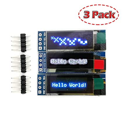 3pcs 0.96 Inch Blue Yellow Iic I2c Oled Display Module For Arduino Parts & Accessories