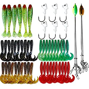 NetAngler 5 Arms Alabama Umbrella Rig Fishing Bass Lures Bait Kit