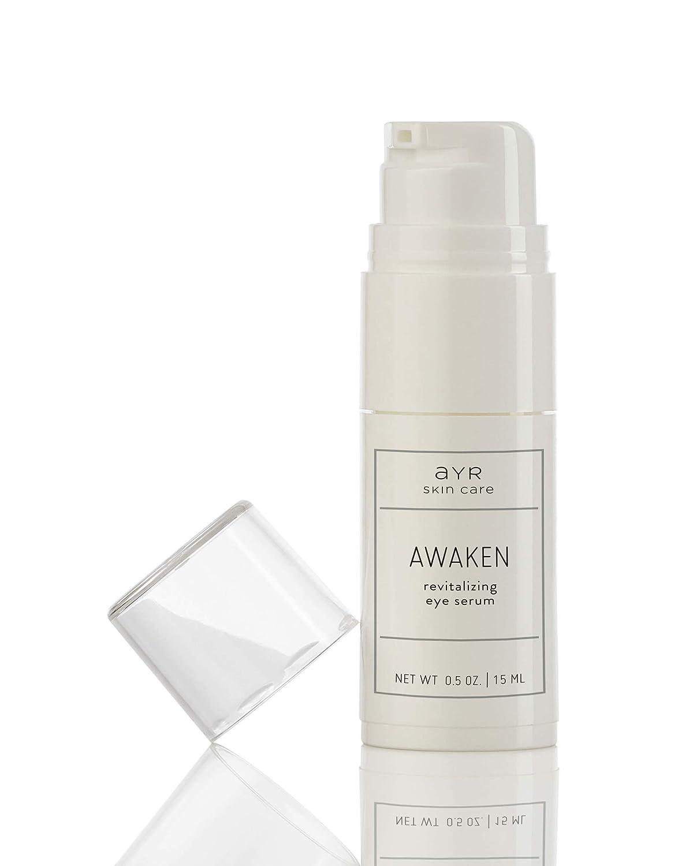 Ayr Skin Care Awaken Eye Serum   Natural and Organic Ingredients   with Anti Aging Peptides and Probiotics   0.5 fl oz