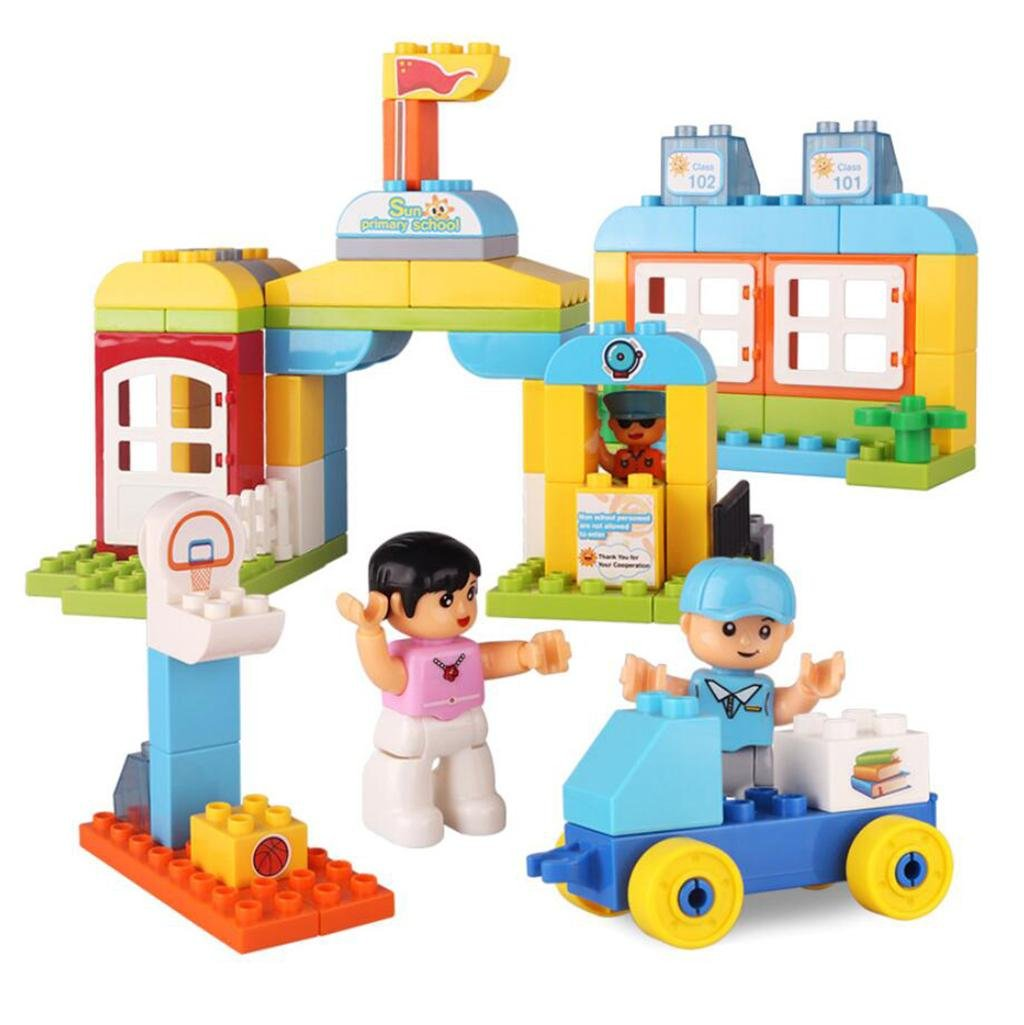 Kinder Plastik Material Montage Bausteine Schule Puzzle Theme Big Grain Bausteine