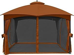 ABCCANOPY Universal 10' x 12' Gazebo Replacement Mosquito Netting Walls (Rust)