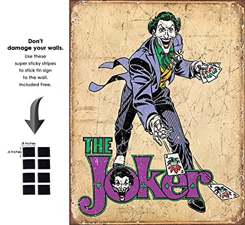 Shop72 DC Comic Serise The Joker Metal Tin Sign Super Hero Retro Vintage Decor Home (Joker Superhero)