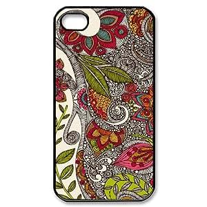 SHJFDIYCase Design Custom Zentangle Art Durable Hard Back Cover Case for Iphone 4,4S, Custom Phone Case SHJF-503959