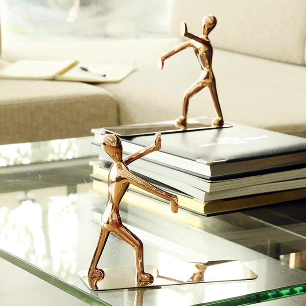 Rejoicing Kung Fu Serre-livres support innovante Fournitures de bureau papeterie tendance en acier inoxydable Humano/ïde Serre-livres /étag/ère/ /1/Paire dor/é