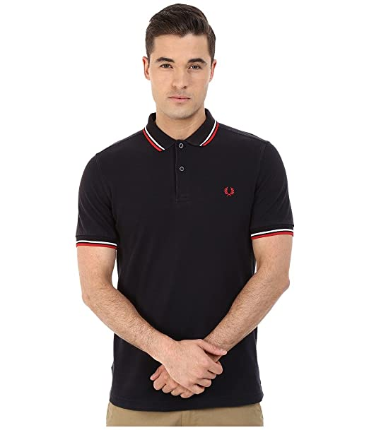 Fred Perry M3600, Polo Para Hombre, Azul (Ozone Navy/White/Red C68 ...