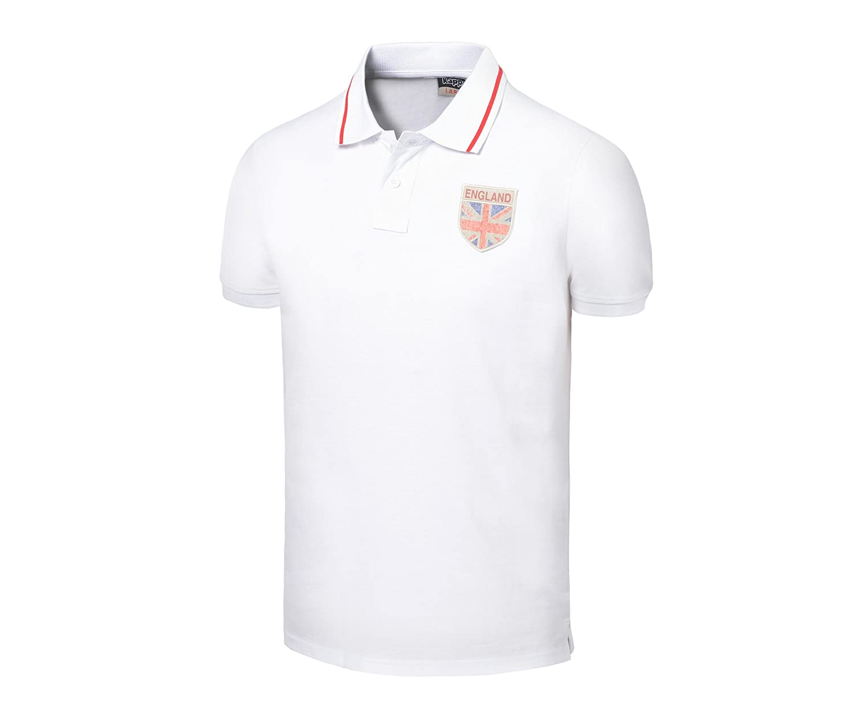 Polo England, Hombre, blanco, medium: Amazon.es: Deportes y aire libre