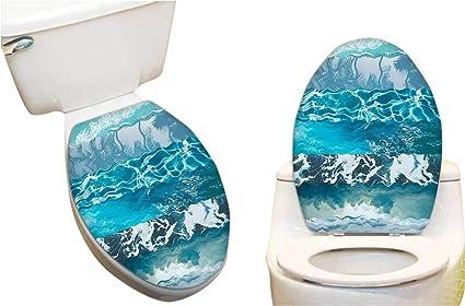 Fine Amazon Com Toilet Seat Sticker Abstract Major Gradient Bralicious Painted Fabric Chair Ideas Braliciousco