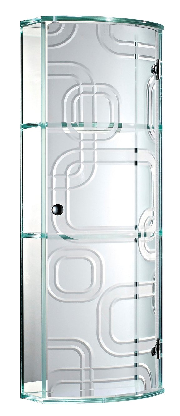 Charming Bathroom Cabinet Glass Part - 11: Showerdrape Ferrara- Glass Bathroom Cabinet With Curved Door (Frosted):  Amazon.co.uk: Kitchen U0026 Home
