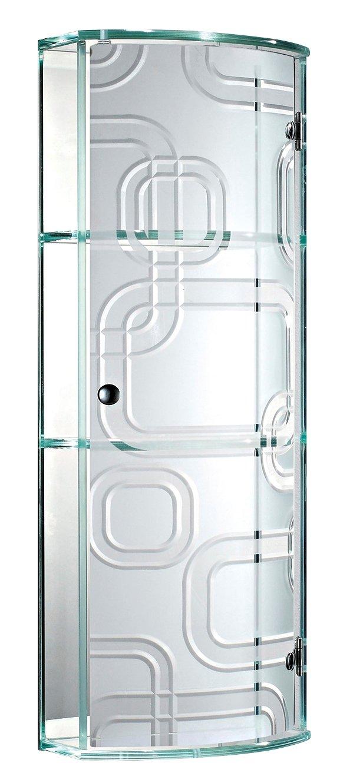 Showerdrape Ferrara- Glass Bathroom Cabinet With Curved Door ...