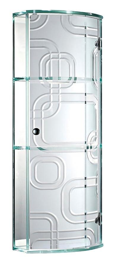 Showerdrape Ferrara- Glass Bathroom Cabinet With Curved Door by ...