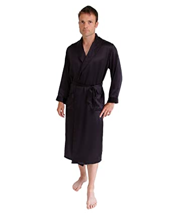 Long silk dressing gown at Amazon Men\'s Clothing store: Silk Men ...