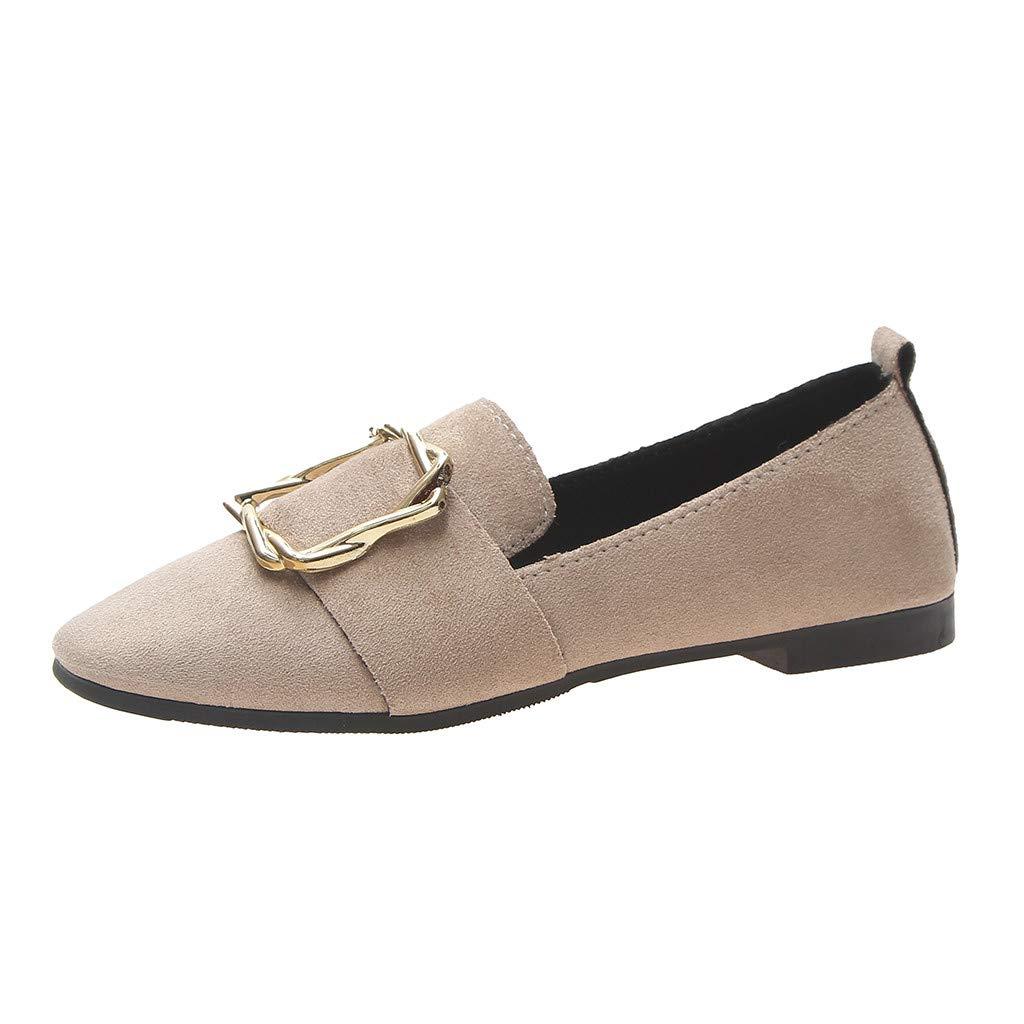 VonVonCo Summer Women's Shoes Flat Shoes Retro Soft Bottom Peas Shoes Ladies' Single Shoe Khaki