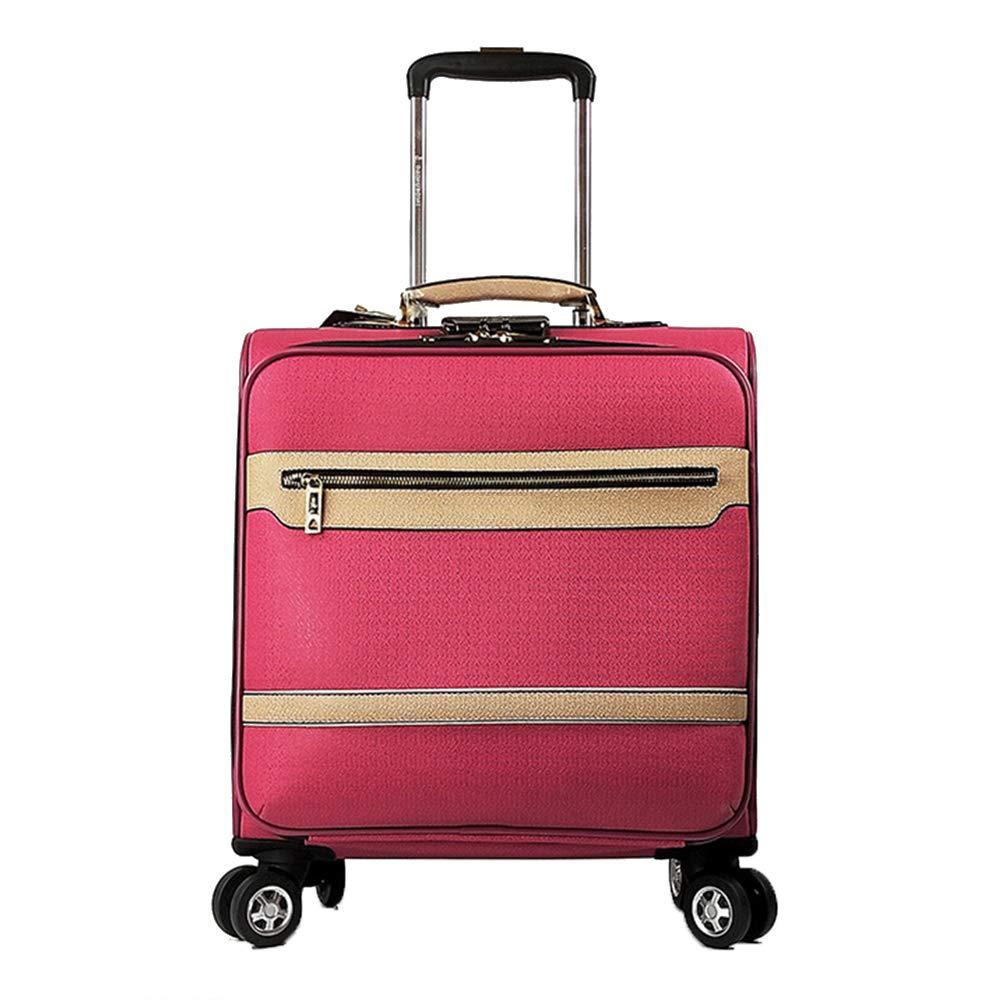 荷物スーツケース、4輪ユニバーサルPUレザートロリーケース、18インチ軽量ビジネストラベル手荷物、男性用および女性用スーツケース,D B07T3D6X3Y D