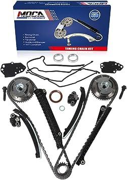 3L3E6C524FA 917-250 3R2Z6A257DA BLACKHORSE-RACING Fits 5.4L VVTi Camshaft Phaser Sprocket+Timing Chain Kit Timing Cover Gaskets # 3R2Z6A257DA