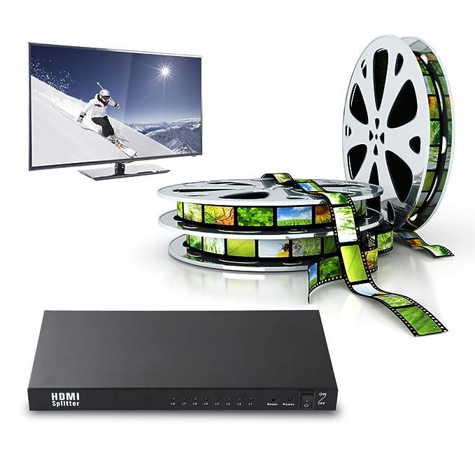 Vakind ® 1 x 8 HDMI Splitter-Distribuidor de señal amplificada ...