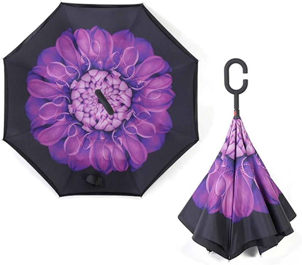 Color : 06 Saalising Reverse Umbrella Free of Car Umbrella Wind and Rain