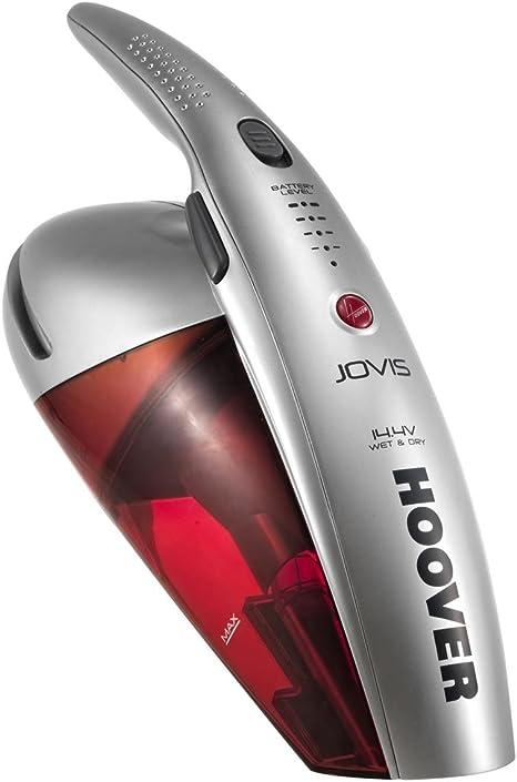 Hoover SJ 144 WSR JOVIS SJ144WSR4 Wet & Dry-Aspirador de Mano, 14,4 Voltios de Potencia, aspira sólidos y líquidos, 0.5 litros, 77 Decibelios, Plateado y rojo transparente: Amazon.es: Hogar